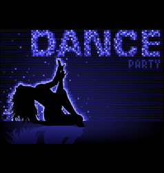 blue dance party background vector image vector image