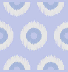 boho polka dot blue seamless pattern vector image