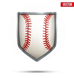 Bright shield in the baseball ball inside vector image