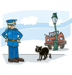 Cat curse vector