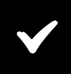 Check mark icon and ok symbol vector