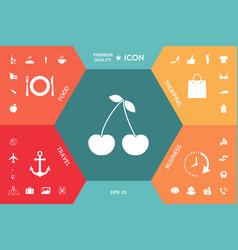 cherry symbol icon vector image