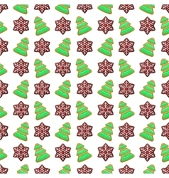 Christmas Seamless Pattern with Cookies vector
