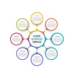 Circle diagram - eight elements vector