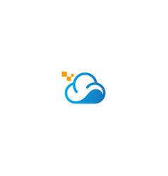 cloud technology company logo vector image