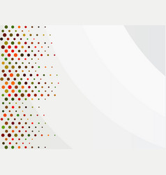 colorful dots on a white abstract background vector image