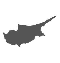 cyprus map black icon on white background vector image