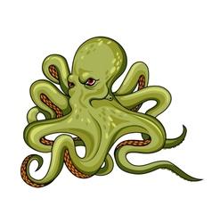 Danger octopus vector