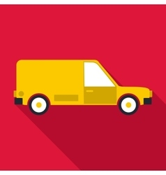 Delivery car icon flat style vector