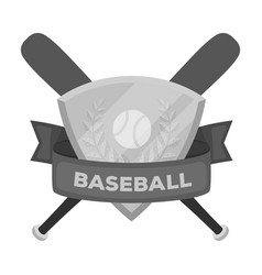 emblem baseball single icon in monochrome style vector image