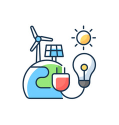 Energy sector rgb color icon vector