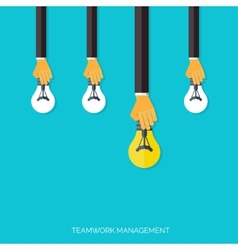 Finding the main idea Teamwork management concept vector image