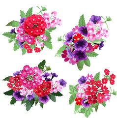 Floral bouquets set vector