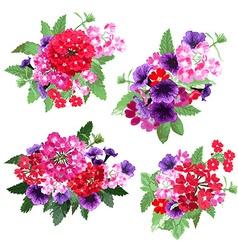 Floral bouquets set vector
