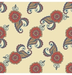 Flower paisley pattern vector