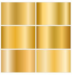 Gold metallic gradient set vector