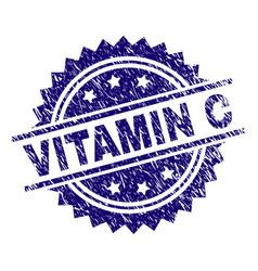 Grunge textured vitamin c stamp seal vector