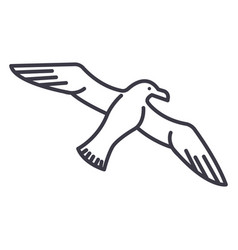 gullseagull line icon sign vector image