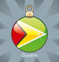 Guyana flag on bulb vector image
