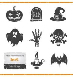 Halloween Icons Set vector