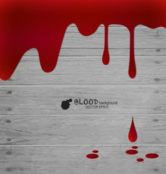 Happy Halloween Blood dripping on wood wall vector image