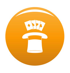 hat with card icon orange vector image