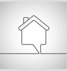 house shape speech bubble vector image