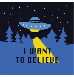 I want to believe hand drawn doodle vector
