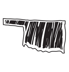Isolated sketch state oklahoma vector