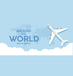 its time to traveltrip to world travel to world vector image