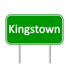 Kingstown road sign vector