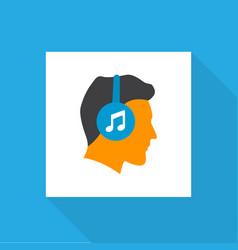 Listen icon flat symbol premium quality isolated vector