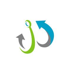 marine anchor logo nautical design vector image