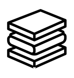 Mattress foam layers icon outline vector
