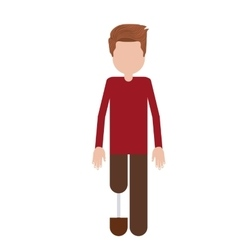 person with foot prosthesis isolated icon design vector image