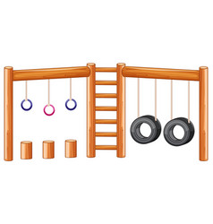 playground equiment white background vector image