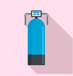 Presure water filter icon flat style vector