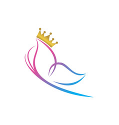 queen butterfly abstract icon logo vector image