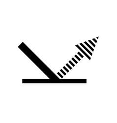Reflection arrow icon vector