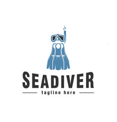 sea diver logo design inspiration vector image