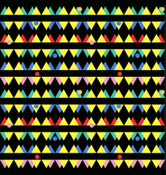 seamless vintage abstract pattern with triangles vector image
