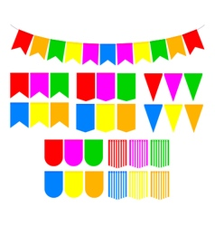 Set festive flags vector image vector image