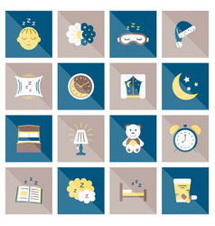sleep flat icon vector image