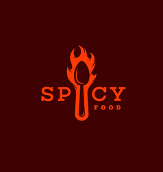 Spicy food logo vector