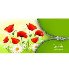 Summer flower background vector
