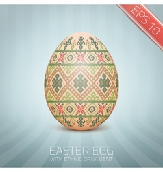 The easter egg with an ukrainian folk pattern vector