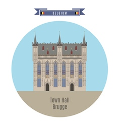 Town Hall Brugge vector