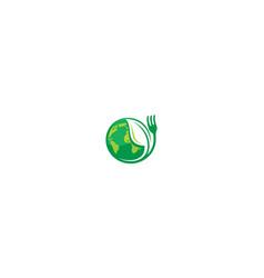 Travel international cuisine logo icon vector