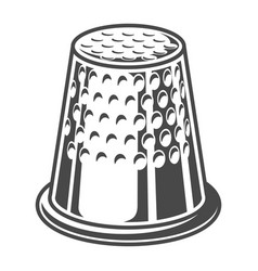 vintage sewing thimble template vector image