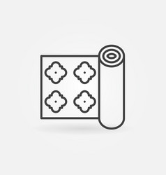 wall paper roll linear concept icon vector image